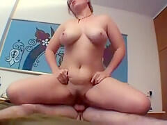 Crazy Amateur video with Big Tits, Blonde scenes